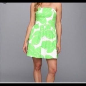 LILLY PULITZER Bee print Lottie strapless dress